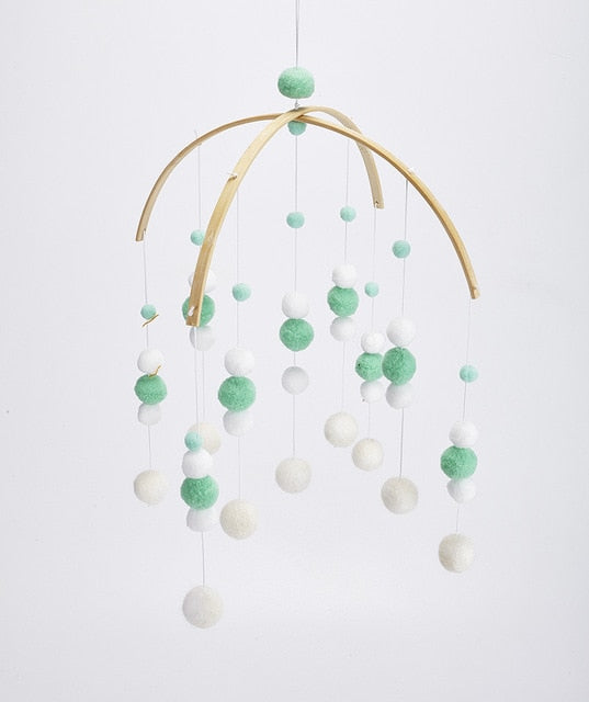 Baby Nordic Style Rattles Mobile Wooden Beads Wind Chimes