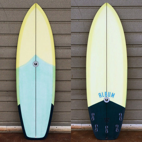 "カリフォルニア在庫 - Album Surfboards - Balance, 5'11""x 20.75""x 2.63"" 3 Color Tint"