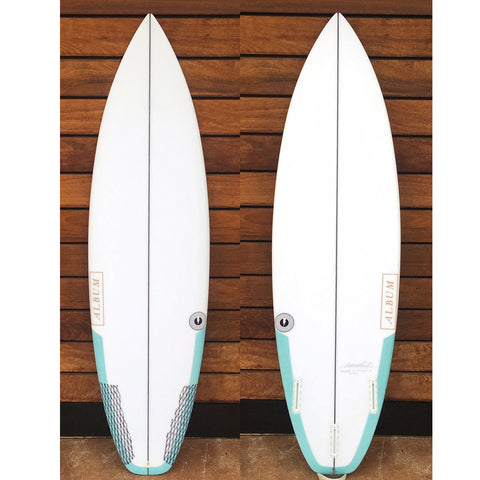 "カリフォルニア在庫 - Album Surfboards - BLACKLINE, 5'11""x 19.25""x 2.32"" Tail Carbon Patch"