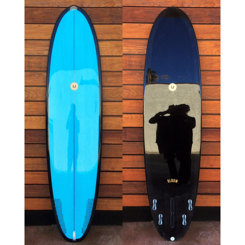 "カリフォルニア在庫 - Album Surfboards - Darkness, 7'6""x 21.88""x 2.88"" EPS Black & Blue Tint"