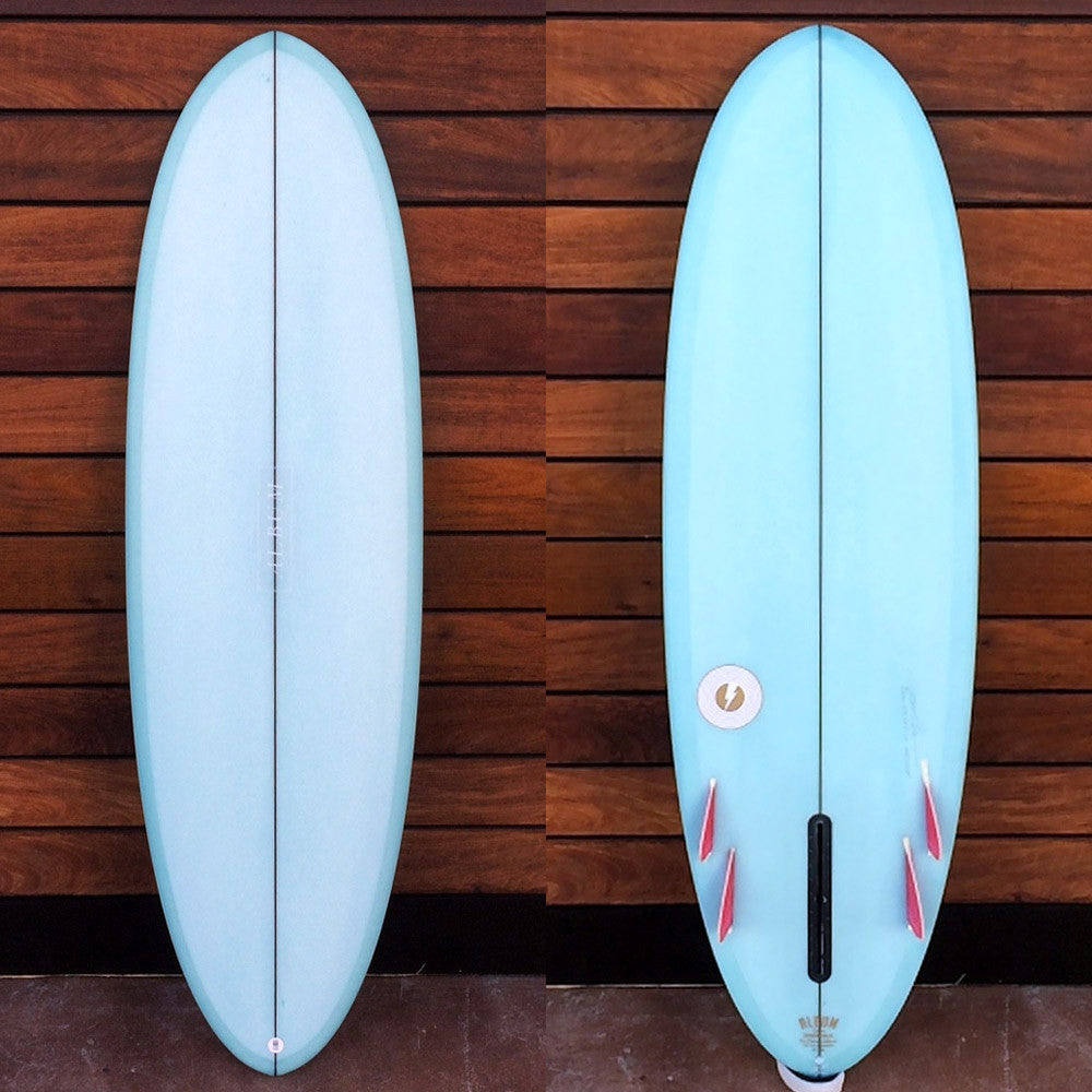"カリフォルニア在庫 - Album Surfboards - disc, 5'10""x 20.5""x 2.63"" Baby Blue Tint, Bonzer-Glass on"