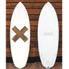 "カリフォルニア在庫 - Album Surfboards - DOOM ""X"", 5'6""x 20.5""x 2.5"" White Pigment Tint"