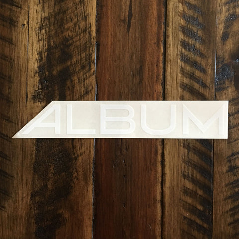 Album Sticker - ALBUM White