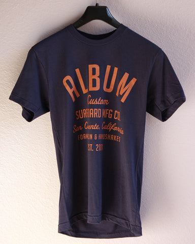 Album T-shirts, Custom Type Navy