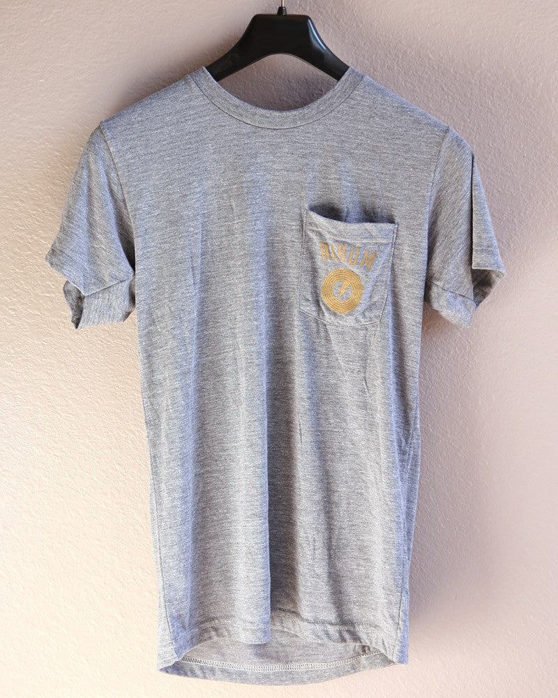 Album Pocket T-shirts, Custom Type Grey