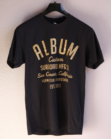 Album T-shirts, Custom Type Black