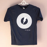 子供用 Album T-shirts for KIDS, Vinyl Logo Navy