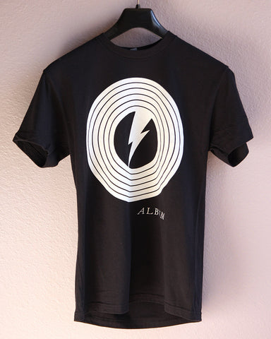 Album T-shirts, Vinyl Logo Black