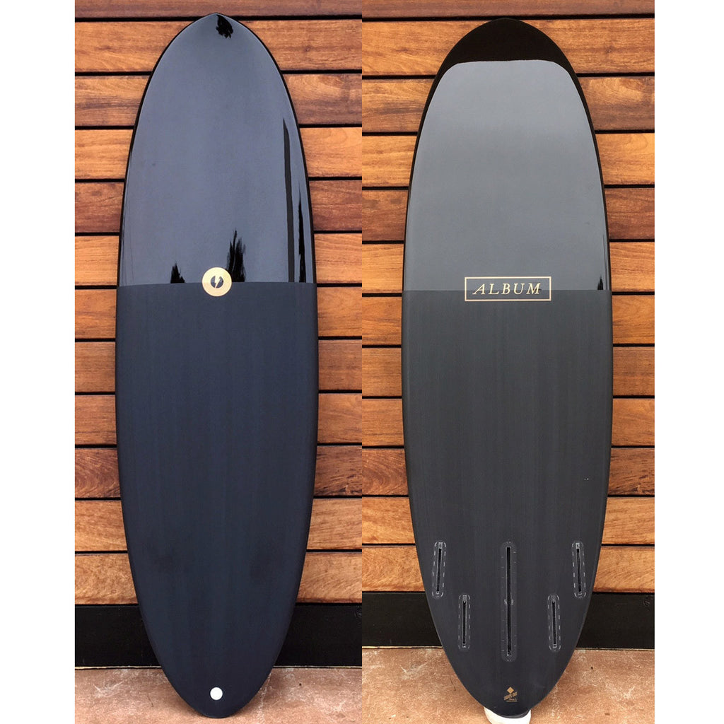 "カリフォルニア在庫 - Album Surfboards - disc, 6'0""x 21.25""x 2.75"" Black Pigment Tint"