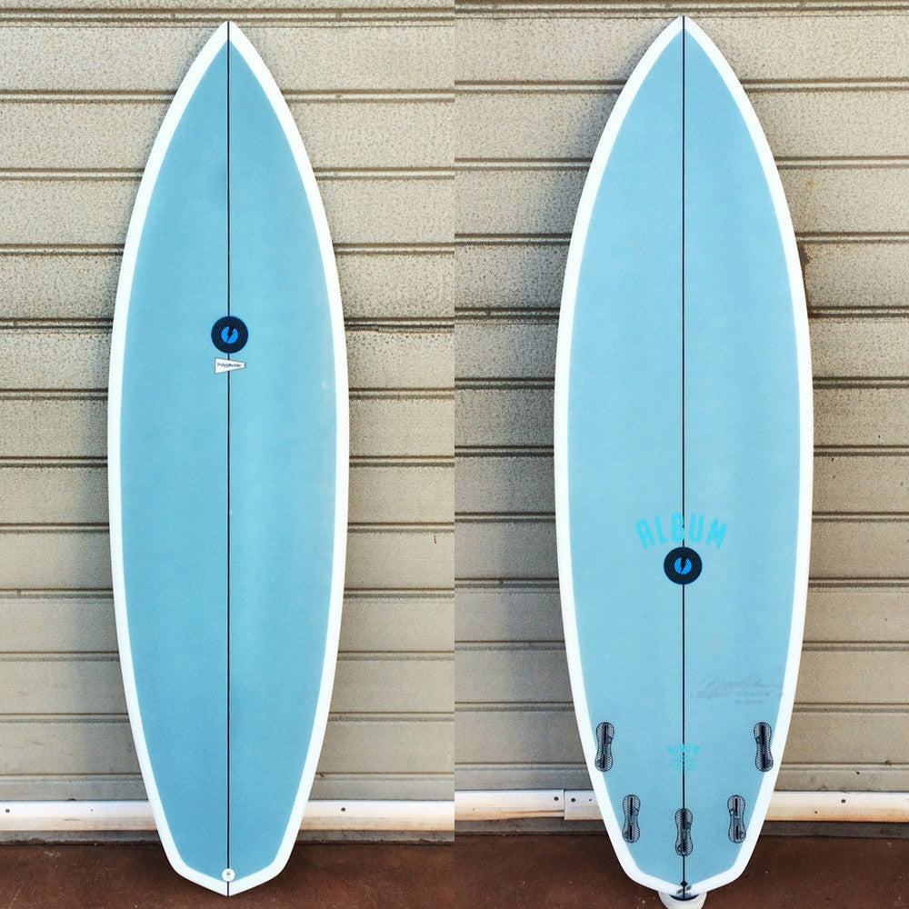 "カリフォルニア在庫 - Album Surfboards - polyphonic, 6'2""x 21""x 2.75"" Blue Air-Brush"