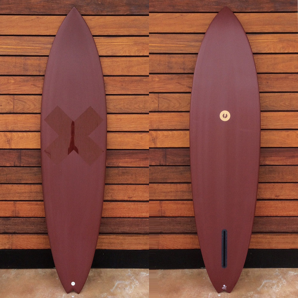 "カリフォルニア在庫 - Album Surfboards - Ledge, 7'2""x 20""x 2.88"" Maroon Pigment Tint"