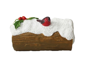 Snowy Log Cake Topper