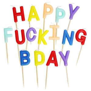 Happy F*cking Birthday Letter Candles