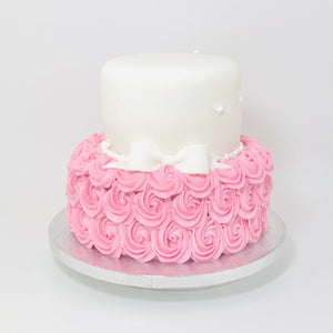 Tiered Rose Swirl & Bow