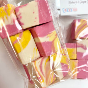 Rhubarb And Ginger Gin Fudge