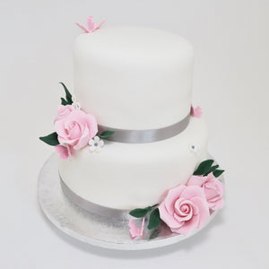 Tiered Roses & Butterflies