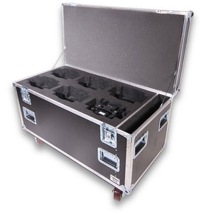 6-Pack Chauvet Rogue R2 Wash Trunk