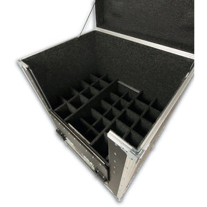 30 Slot Mic Stand Case with Trays