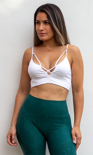 Active Vibes with White Crop Top