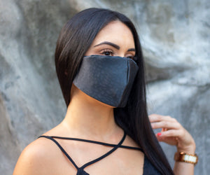 Satin Black Face Mask