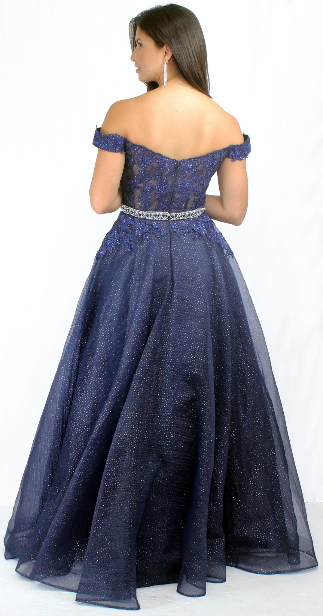 Queen of the Evening Navy Ball Gown