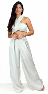 Sweetest Desires Sage Palazzo Two-Piece Set