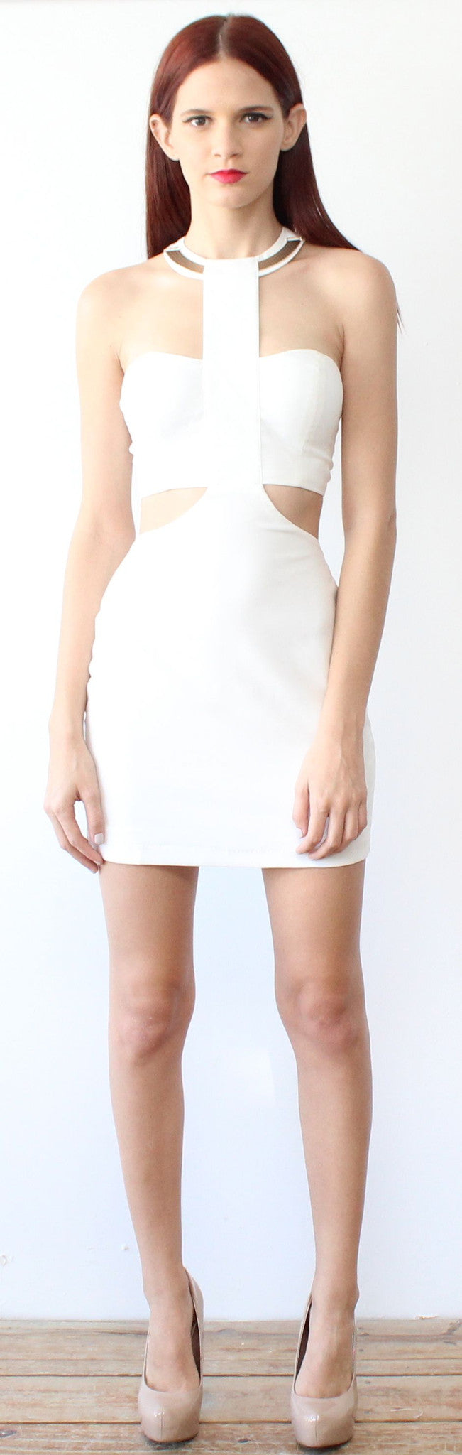 All Looking at You White Dress