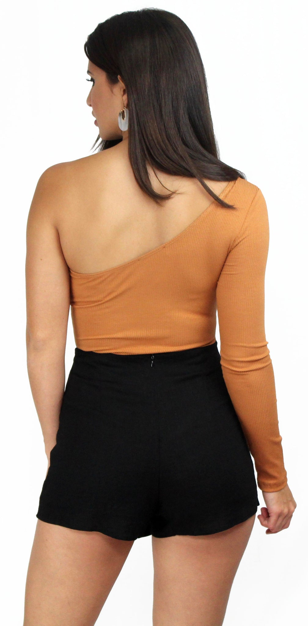 Beside Me One-Shoulder Amber Bodysuit