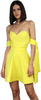 Eternal Joy Yellow Strapless Dress