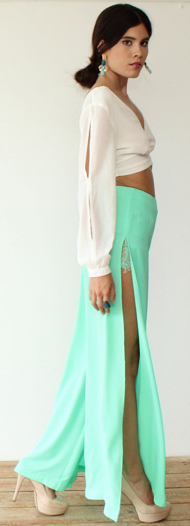 Love the Lace & Mint Palazzo Pants