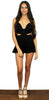 Drunk in Love Black Cutoff Romper