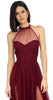 Temptress Wine Mesh Formal Gown