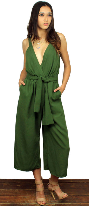 Postcards from Cabo Olive Culotte Romper