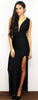 On Broadway Convertible Black Maxi Dress