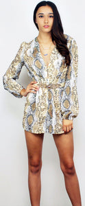 Second Look Snake Print Romper
