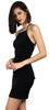 Force of Fashion Black Backless Dress