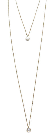 Shining Seas Gold and Pearl Layer Necklace