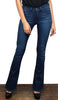 In Time High Waist & Flare Dark Wash Jeans