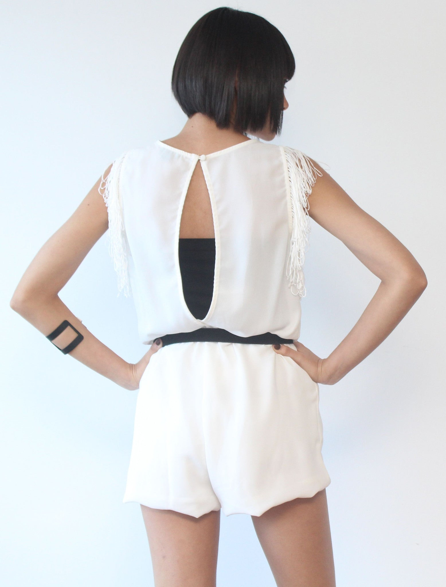 The Thought Of You White Romper