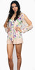 Flowers at Spring Nude Floral Romper