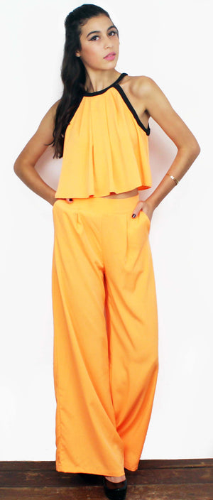 Meant to Be Palazzo Orange Set