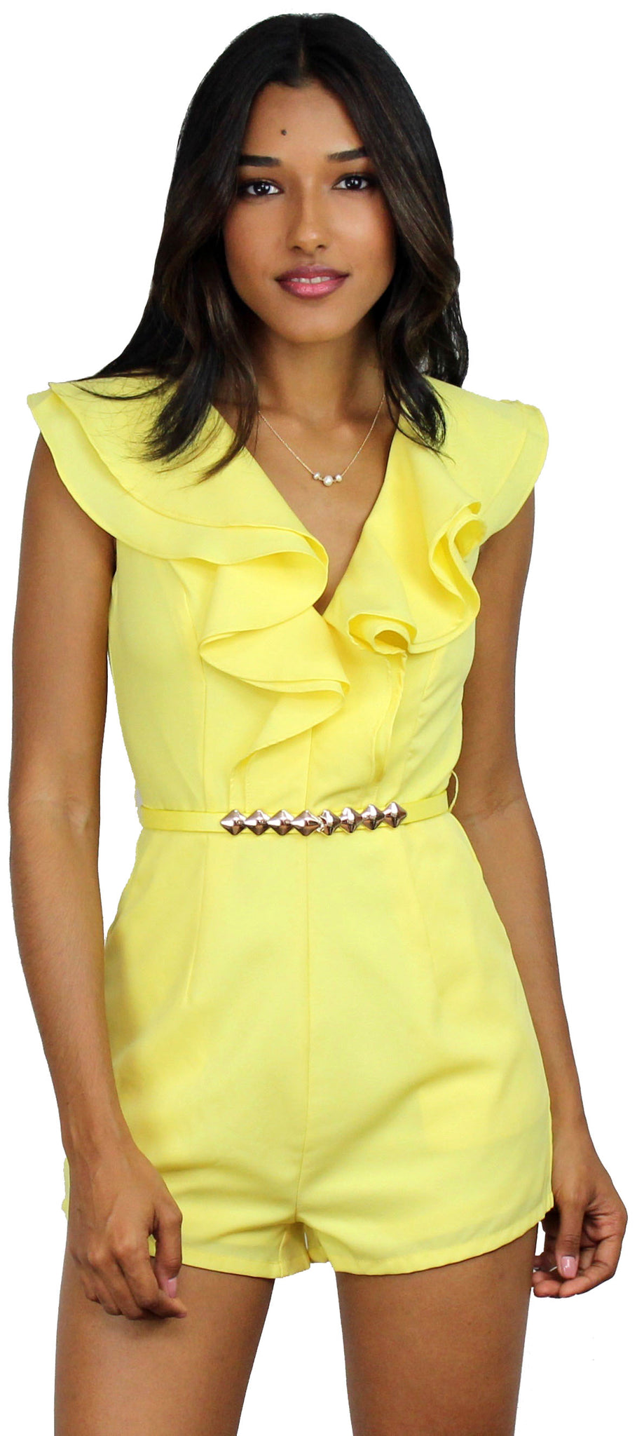 Feeling Gorgeous in Yellow Ruffle Romper