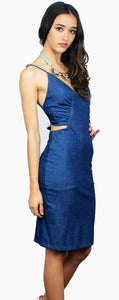 All or Nothing Denim Midi Dress