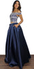 Only Want You Navy Two-Piece Set Gown