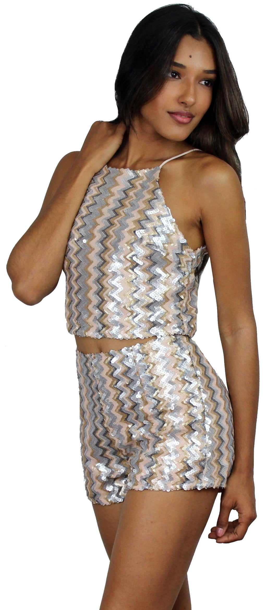 Now and Forever Sequin Two-Piece Set
