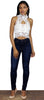 Mile High Waist Dark Wash Skinny Jeans
