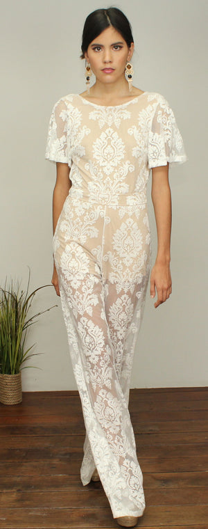 One Night Ivory Lace Jumpsuit