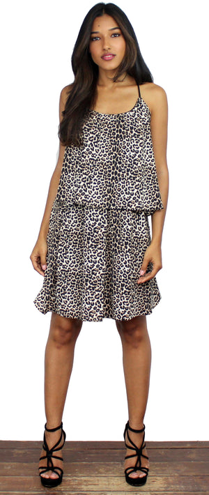 Animal Print Simple Dress