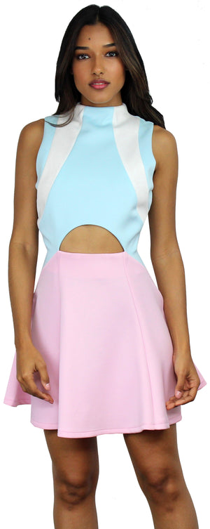 Be the Cutest Girl Ever Baby Blue & Pink Dress