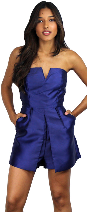 What Chic Said Satin Romper